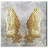 My Golden Wings' Contemporary Canvas Wall Art Print for Home Decor and Office. The Classic Wall Decor Collection by The Oliver Gal Artist Co. Gallery Wrapped and Ready to Hang. 43x43 inch