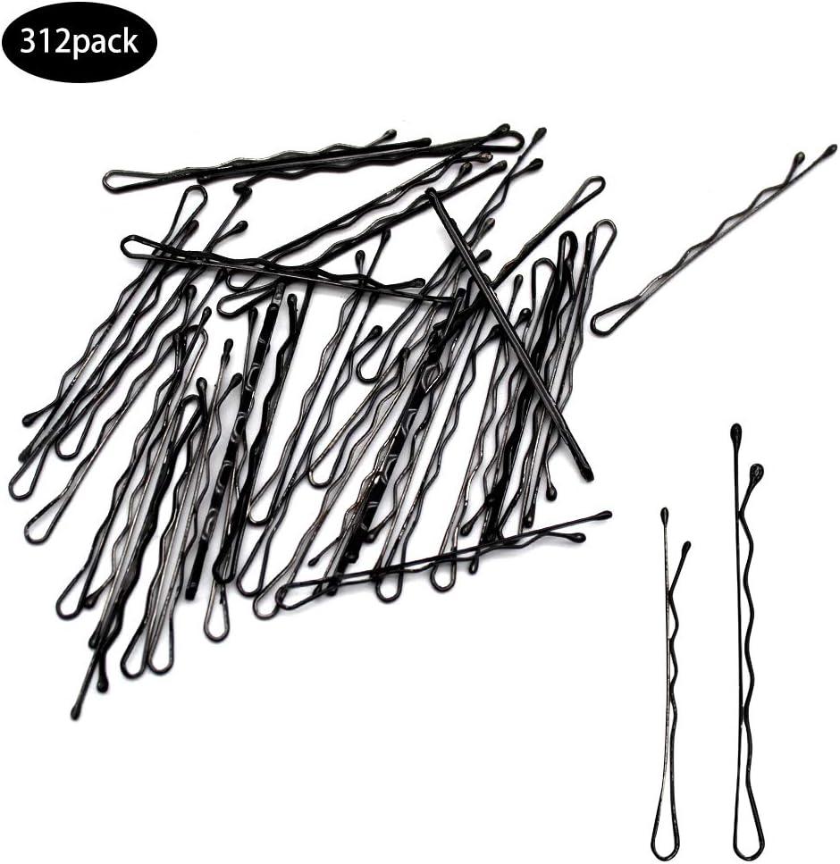 Dylan-EU 312 Piezas Horquillas de Clips de Pelo Pasador Accesorios para Cabello Mini Barrettes, Negro