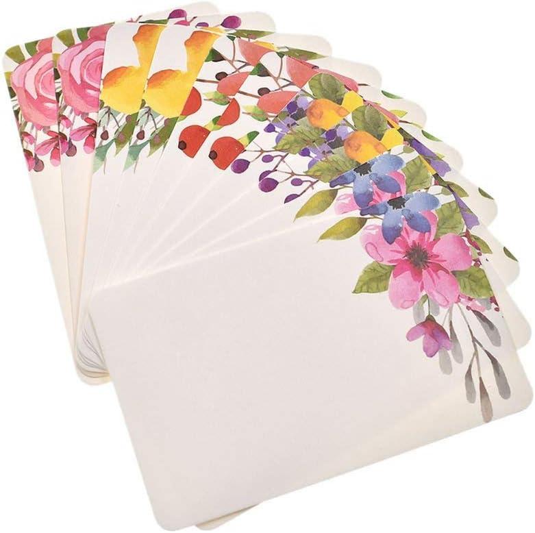 50pcs Handmade Flower Greeting Cards