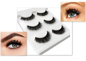 2acd67ce311 Amazon.com : 3 Pairs natural false eyelashes thick makeup real 3d mink  lashes soft eyelash extension fake eye lashes long mink eyelashes 3d :  Beauty