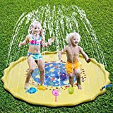 BIG OCEAN Sprinkler for Kids Outdoor Water Toys Sprinkle and Splash Play Mat Pad for Kids (69 inch)
