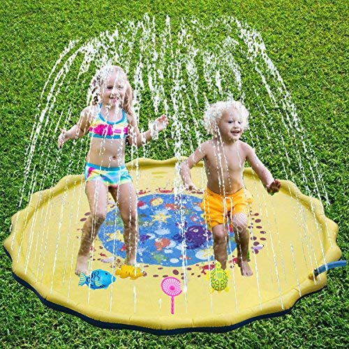 BIG OCEAN Sprinkler for Kids Outdoor Water Toys Sprinkle and Splash Play Mat Pad for Kids (69 inch) by BIG OCEAN