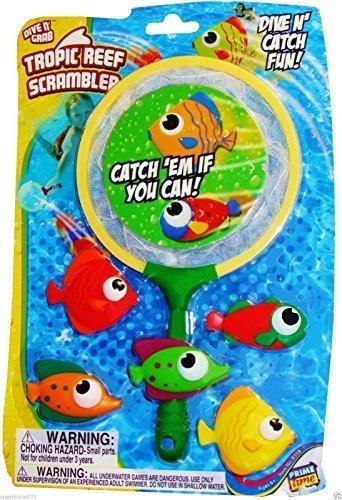 Edge Marketing Pool - Dive N Grab Tropic Reef Scrambler Pool Toy,fun Pool Toy,dive Toy