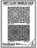 Flexistamps Texture Sheet Set Flourish Set (Including Flourish and Flourish Inverse)- 2 Pc.