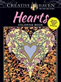 Creative Haven Hearts Coloring Book: Romantic Designs on a Dramatic Black Background (Adult Coloring)