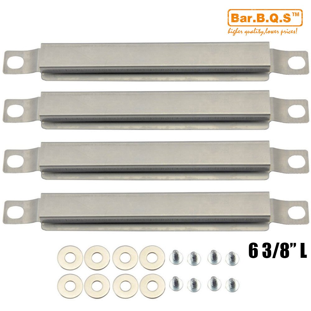 Bar.b.q.s Universal Gas Grill Burner Heat Plate Crossover Tube Replacement for GasBar.b.q.s Replacement 05592(4-pack 6 3/8) Stainless Steel Cross Over Burner for Select Gas Grill Charbroil, Kenmore and Others