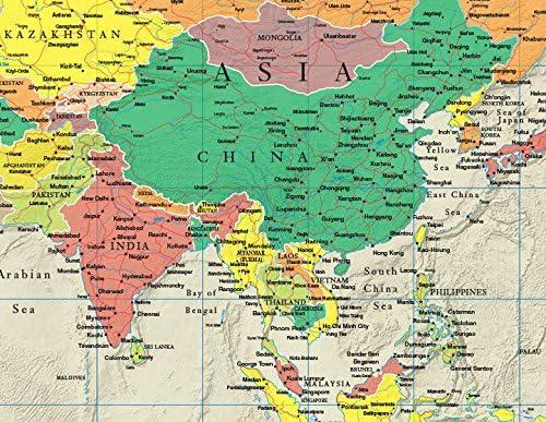 Amazon Com Smithsonian Journeys Mapa Del Mundo 11 8 X