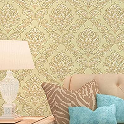 European Luxury Damascus 3D Embossed Washable Vinyl Wallpaper Home Decor Papel De Parede PVC Living Room Background Wall Paper