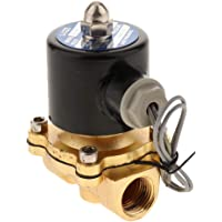 Blesiya 1/2 Inch DC 24V Zinc Alloy Electric Solenoid Valve Normally Closed Water, Air, Diesel