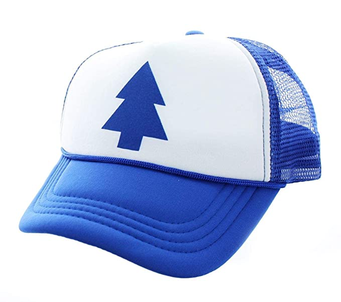 7011474a096f6 Image Unavailable. Image not available for. Colour  Dipper Gravity Falls  Cartoon New Curved Bill Blue Pine Tree Hat Cap Trucker