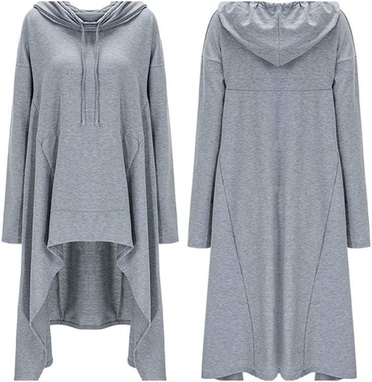 Kapuzenpullover Pure Color Long Hooded Casual Retro Loose Slim Sweatshirt Kleidung 01