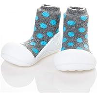 Attipas Polka Dot Baby Walker Shoes, Grey, Small