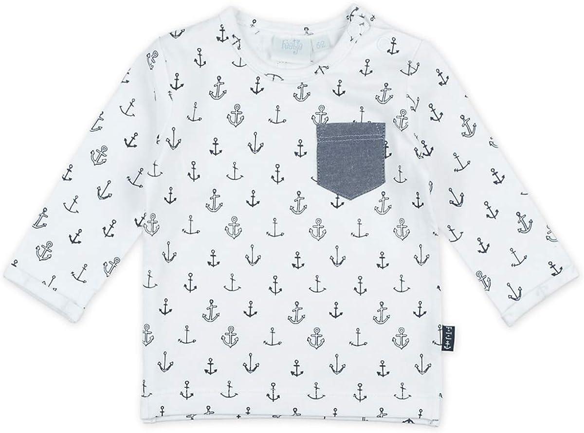 LA Shirt aus Bio BW Jersey in Wei/ß mit kleinem Anker Print Allover von FEEJE Mr.Good Looks 1460