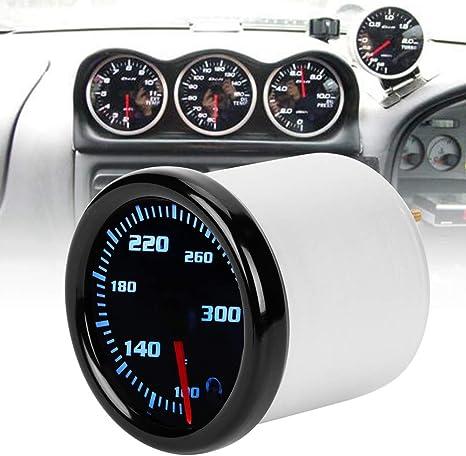 DC 12V Car Water Temperature Temp Meter Gauge with 7 Color LED Display Black Shell Aramox Water Temperature Gauge