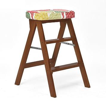 LXLA  Pliable 3 Step Ladder Tabouret Tabouret En Bois Massif Meubles  Chaises Portable Multi