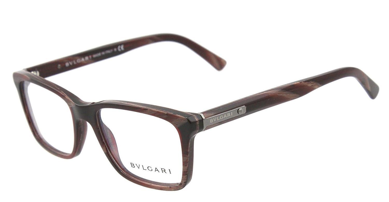 Amazon.com: anteojos de Bvlgari BV 3022 5300 café y rojo ...