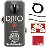 TC Electronic Ditto Looper Guitar Effects Pedal with Polish Cloth, Pick Card, Patch Cables, and 10 ft Cable