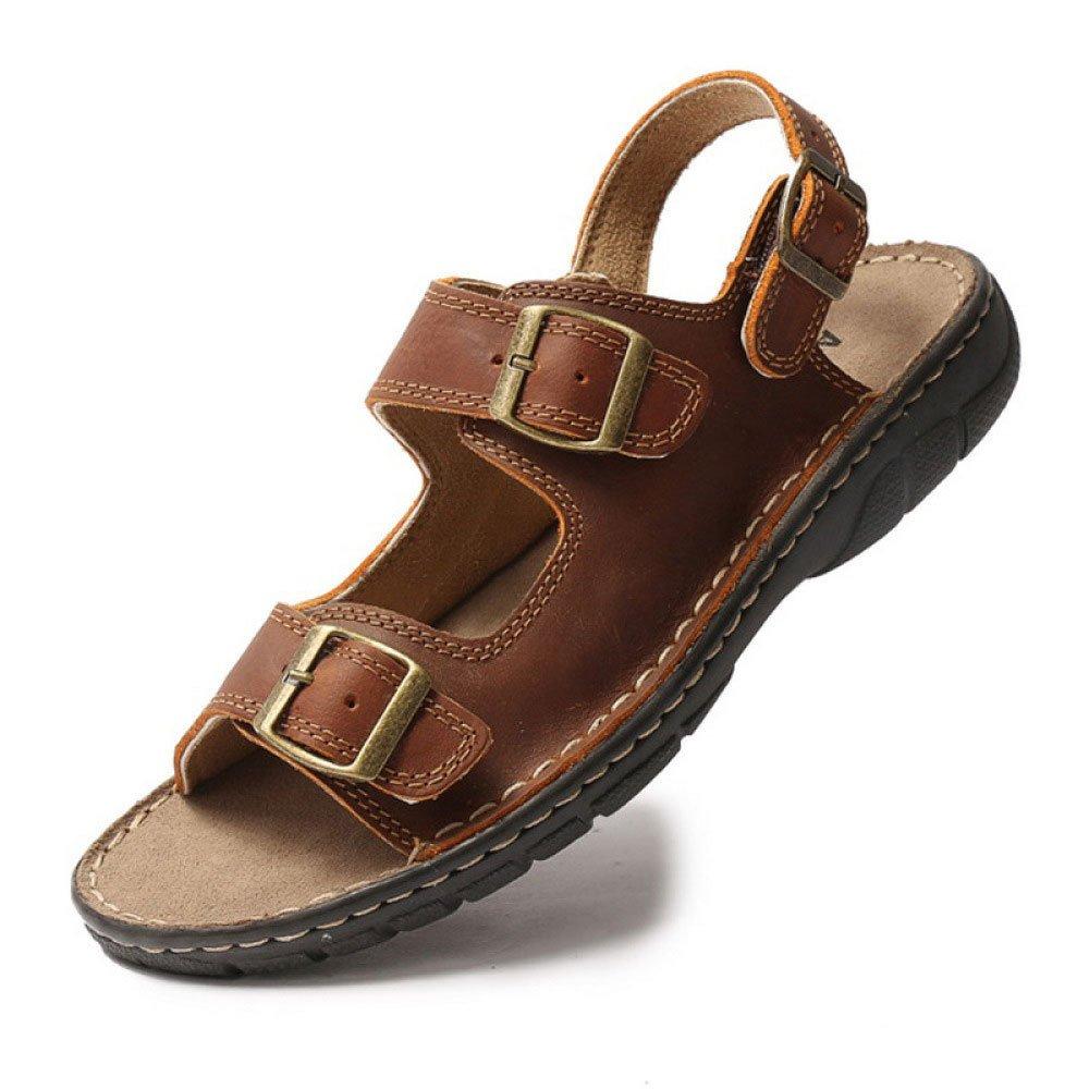 Sandalias De Verano Zapatos De Playa Zapatos Casuales para Hombres Zapatos con Hebillas Planas 38 EU|Brown