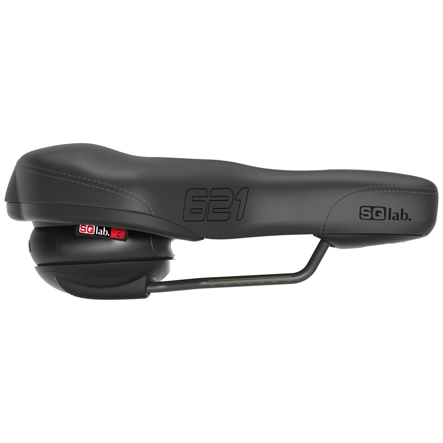 8c49392e8b201 SQlab 621 Ergolux Active Crmo Rail 210 Saddle - Black - 2040