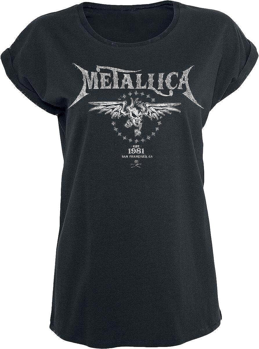Metallica Biker Camiseta Negro