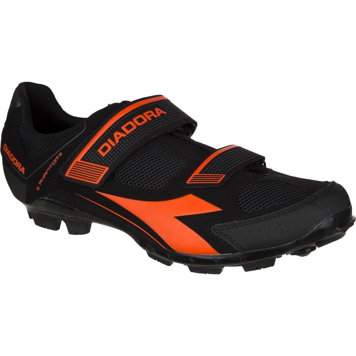 Diadora x-phantom II Shoes – Men 's 38 Black/Red Fluo B01EBUSJHK