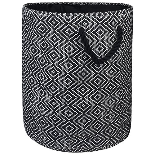 - DII Woven Paper Basket or Bin, Collapsible & Convenient Home Organization Solution for Bedroom, Bathroom, Dorm or Laundry (Large Round - 15x20