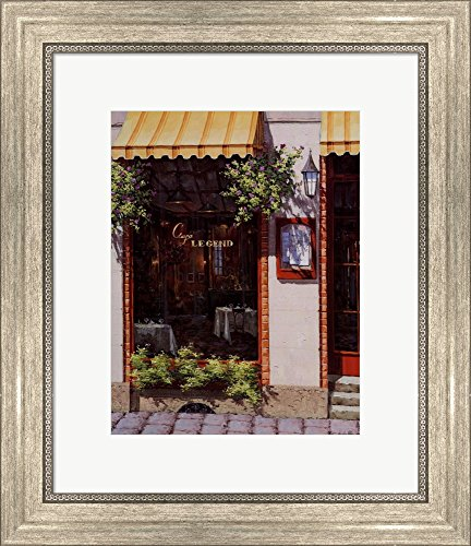 Cafe Legend by Viktor Shvaiko Framed Art Print Wall Picture, Silver Scoop Frame, 15 x 18 ()