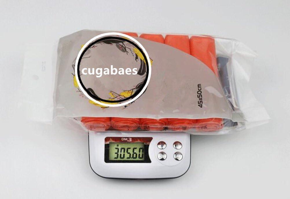 45 x 50/cm cugabaes Lot de 150/sacs poubelle de couleur al/éatoire /épaisseur rigide r/ésistants