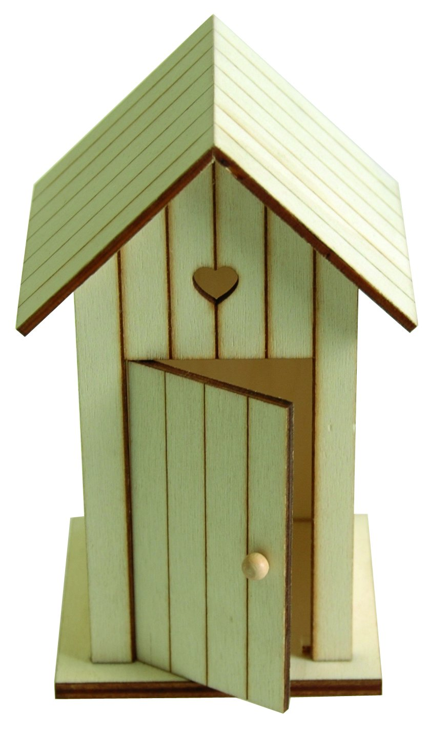 Artemio 14 x 8.5 x 7 cm Wooden Beach Huts, Set of 2, Beige 14001462