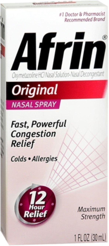 Afrin Nasal Spray Original 30 mL (Pack of 12) by MERCK CONSMR