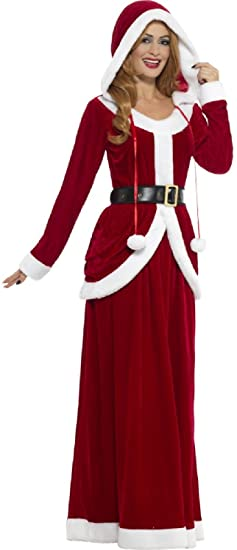63171a2962cd9 Amazon.com: Ladies Deluxe Mrs Claus Christmas Xmas Festive Fun Noel Fancy  Dress Costume Outfit UK 8-22 Plus Size (UK 16-18): Clothing