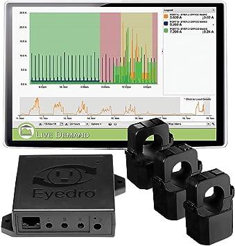 Eyedro - Monitor de electricidad para negocios con cable – Seguimiento del uso energético en tiempo real, proporciona informes y cálculos diarios, semanales y mensuales, fácil de instalar, no requiere electricista: Amazon.es: