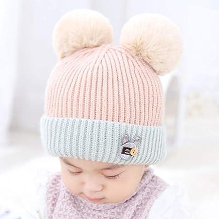 mlpnko Gorro para bebés de 0 a 2 años Gorro de Lana para bebés ...