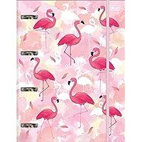 Caderno Argolado Cartonado Universitário com Elástico, Aloha, 80 Folhas, Multicolorido