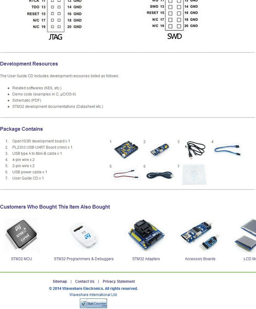 Waveshare Stm32 Board Stm32f103rct6 Stm32f103 Cortex M3 Pin Ps2 Wiring Diagram On Pinterest Arm Development Kit Usb Uart Module Cables Computers Accessories