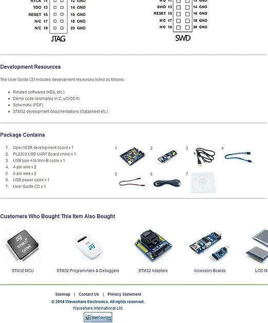 Waveshare STM32 Board STM32F103RCT6 STM32F103 Cortex-M3 ARM