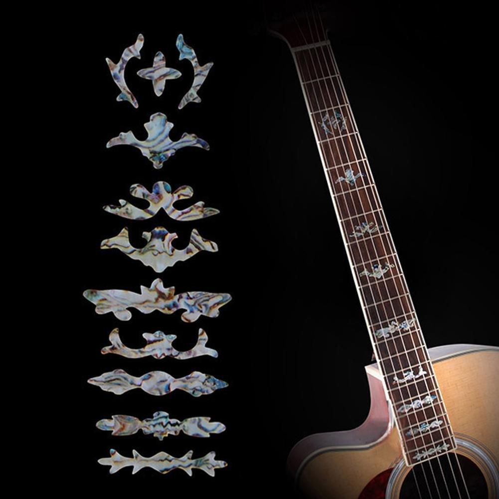 broadroot guitarra Bass Pegatina de incrustaciones diapasón marcador trastes para decorar: Amazon.es: Instrumentos musicales