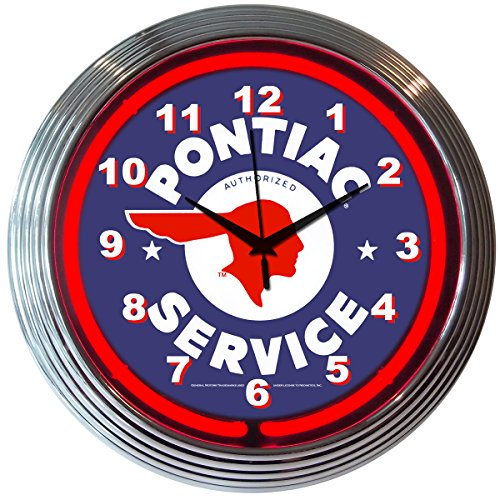 Neonetics Cars and Motorcycles Pontiac Service Neon Wall Clock, 15-Inch