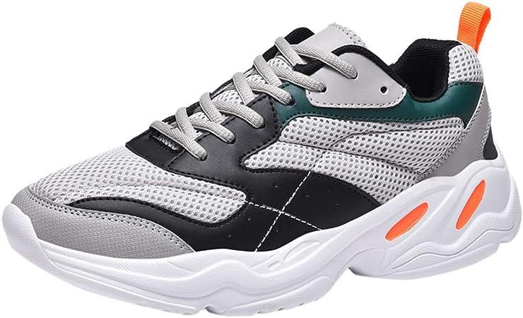 RYTEJFES Zapatillas Bajas Transpirables De Malla para Hombre Zapatos Ligeros Antideslizantes para Caminar Zapatillas Transpirables Tejidas Voladoras Al Aire Libre Resistentes Al Desgaste: Amazon.es: Hogar