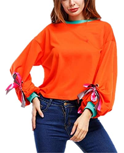 Aivosen Camisetas Hipster Sudaderas Mujer Elegantes Blusas T Shirt Cmisetas Con Manga Larga De Color...