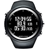 NORTH EDGE Mens Digital Wristwatch GPS Running Watch Waterproof Smart Activity Fitness Tracker