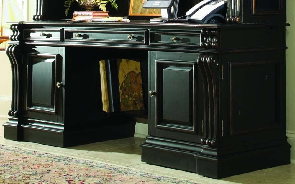 Hooker Furniture Telluride Computer Credenza Desk in Black