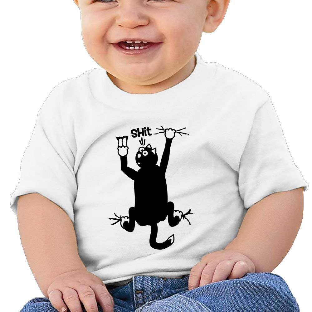 Cute Short-Sleeves Shirts Shit Cat Birthday Day Baby Boy Infant