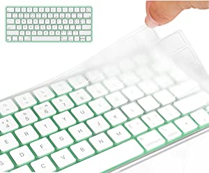 CaseBuy Premium Keyboard Cover Compatible with 2021 Newest Apple iMac 24 inch Magic Keyboard with Touch ID Model A2449, iMac Magic M1 Chip Keyboard Accessories, Ultra Thin TPU Protector Skin