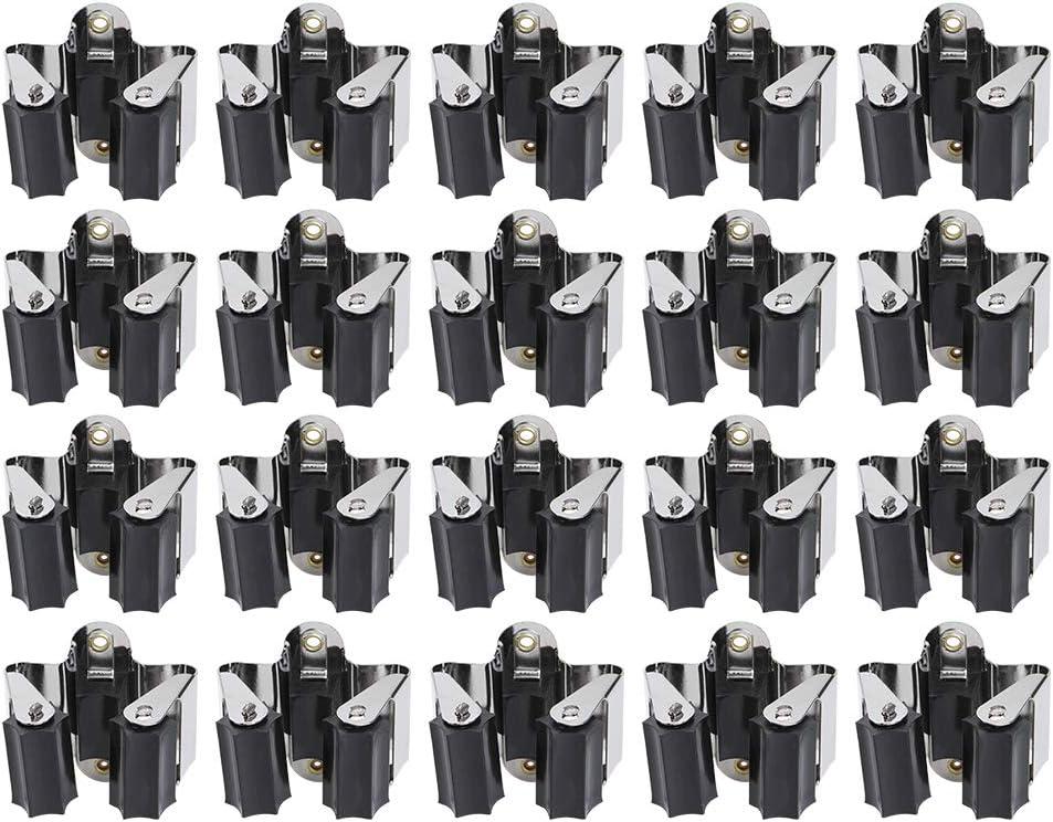 3-H Colgador de Escobas La Cocina(20) Colgador y Organizador para Fregonas y Bater/ía de Cocina Sala de Estar Balc/ón Escoba Multifunci/ón y Portaescobillas para Ba/ño