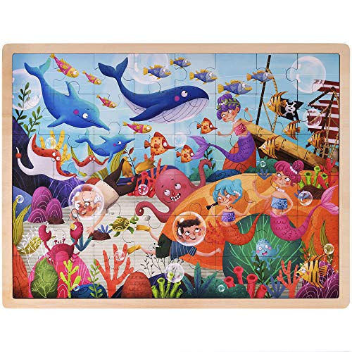 Ollie and Mr. Noodle: Deep Sea Diving Jigsaw Puzzle | Children's 48 pc, 15.75