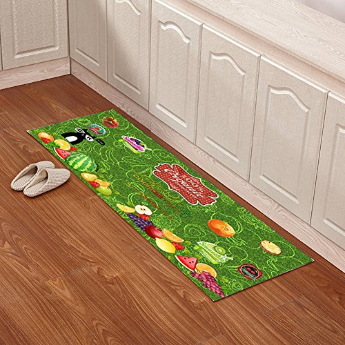 Indoor mats Kitchen floor mats Bathroom non-slip mats Toilet bathroom mats-E 63x91inch(160x230cm) by angertuh