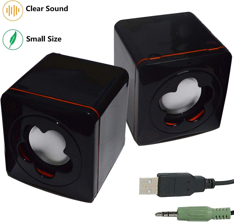 "Clear HD Sound Mini Powered Speaker /""BLUE/"" 3.5 Audio Input Smartphone Tablet"