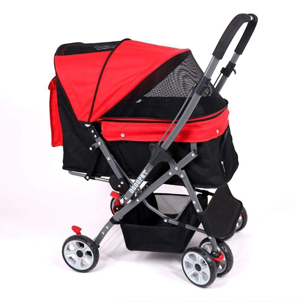 C Aoligei Pet Stroller Dog Pushchair Dog out trolley One-button folding quick inssizetion