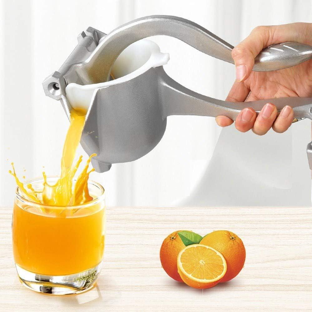 Aluminum Manual Fruit Juicer, Hand Press Lemon Squeezer Alloy Heavy Duty Juicer Squeezer Lemon Extractor Tool Easy Clean Fruit Citrus juicer for Orange Lime Metal Press Squeezer